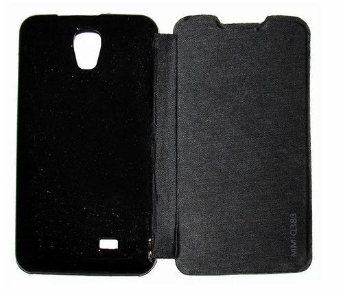 on sale e92fe b0762 Flip Cover For Micromax Bolt Q383 (black)