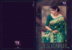 Anumol Party Wear Cotton Lilen Silk Saree