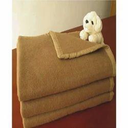 Camel Color Blanket With Four Side Satin Border