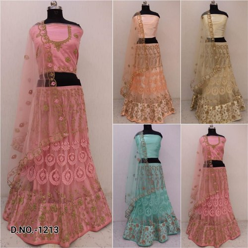 Party Wear Resham Work Designer Ladies Lehenga