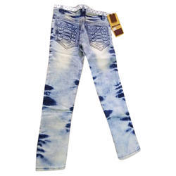 Sky Blue Female Girls Slim Fit Jeans