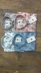 Printed Cotton Sky Blue Shirt