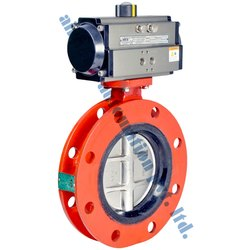 Pneumatic Actuator Wafer Double Flange Butterfly Valve