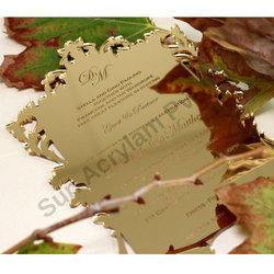 Golden Mirror Acrylic Wedding Invitation Sheet