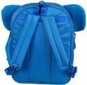 Kids Polyester 14 Inches Elephant Backpack (Blue)