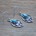 925 STERLING SILVER NEW DESIGNER JEWELRY TURQUOISE GEMSTONE EARRING WE-5364