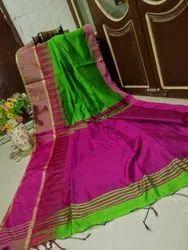 Handloom Cotton Silk Saree Temple Border
