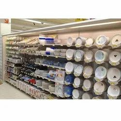 Supermarket Crockery Display Rack