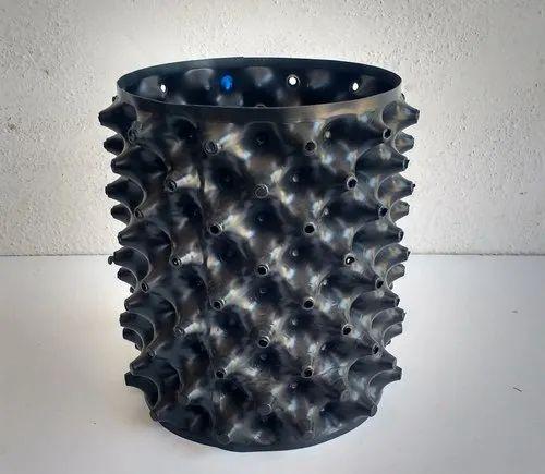 Cylinder Matt Black Air Pot 8 inch