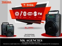 Takara Black Portable Speaker, Model No.: T-5106