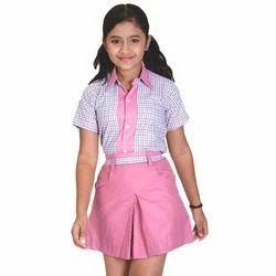 Cotton Girls School Uniform, Size: Large