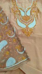 Crepe Kashmiri Embroidery Aari Work Dress Material