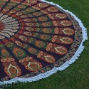 Cotton Mandala Round Roundie Beach Throw Tapestry