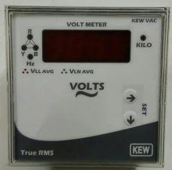 Three Phase Voltmeter Digital Panel Meter, Model Name/Number: Dpm 96x96, 90-300 Volt Aux