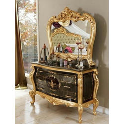 Royal Polished Wooden Dressing Table, For Home