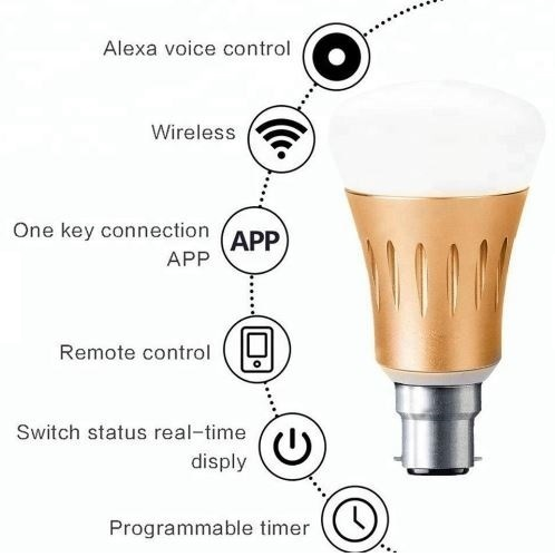 Smart LED Bulb with Voice Control from Amazon Alexa & Google Home  Assistant, White & Multi Colour