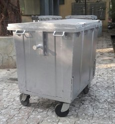 1100 Liter Wheeled MS Dustbin