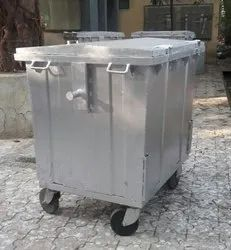 1100 Liter Wheel MS Dustbin