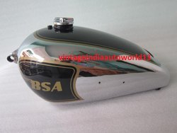 New Bsa Zb32 Gold Star Black Painted Chrome Gas Fuel Petrol Tank 1950 With Fuel Cap
