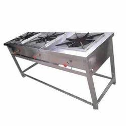Stainless Steel Three Burner Range