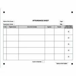 Attendance Sheets