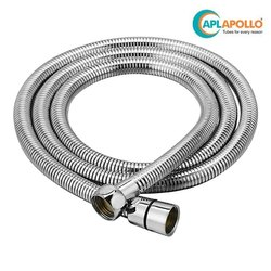 Apollo 1.0 Mtr. SS Hose EPDM Inner, Brass Nut And Brass Insert