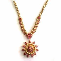 Golden Base Fancy Necklace