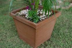 Square Illuminated Plastic Planter