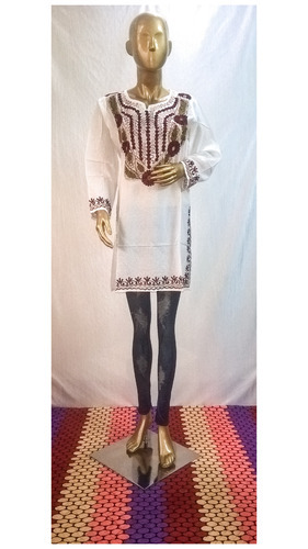 Cotton Embroidered Ladies Short Kurti Top