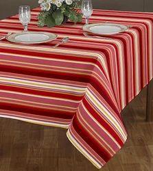 Multicolor Airwill Mini Stripe Yarn Dyed Table Cloth, Size: 140 x 180 cm