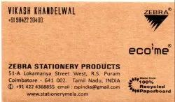 Brown, Natural Paper Ecofriendly Business Cards
