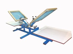 Four Color Two Station Screen Printing Machine