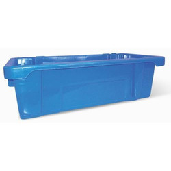 Blue Rectangular Plastic Milk Crates