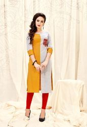 Cotton Slub Casual Kurti