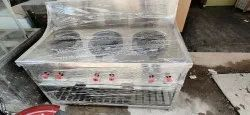 Three Burner Cooking Range Paramount Kitchen Equipment'S for commercial use