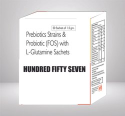 Prebiotics Strains And Probiotic With L- Glutamine Sachets