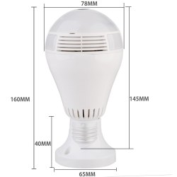Safetynet 360 Degree Bulb WIFI IP Camera