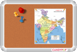 CANDYPOP INDUSTRIES Cork Memo Board, Frame Material: Aluminium, Board Size (Inches): 60