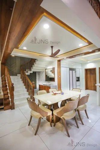 Dinning Area Dining Room Interior Design, Work Provided: Wood Work & Furniture