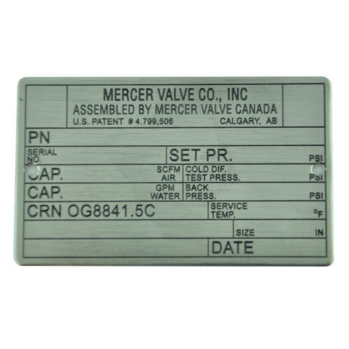 Stainless Steel Adhesive Tag
