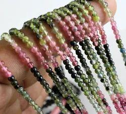 Multi Tourmaline Plain Smooth Beads