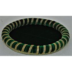 Round Velvet Wedding Trays