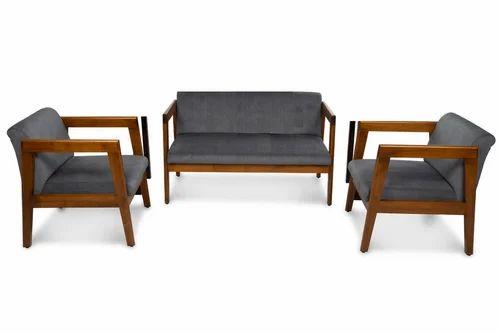 Plain Wooden Sofa Set, Arbab Foam Centre   ID: 19785861012