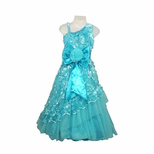 Girls Kids Sky Blue Gowns