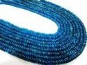 Natural Neon Apatite Rondelle 3 To 5mm Strand 13 Inches Long,