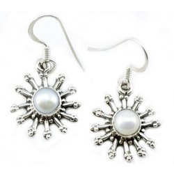 Pearl Sterling Silver Earrings