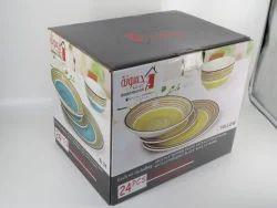 Corrugated Boxes Crockery Packaging Box, Box Capacity: 11-20 Kg