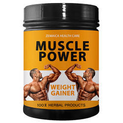 Muscle Power Weight Gainer Supplement, 500 gm, Packaging Type: Jar