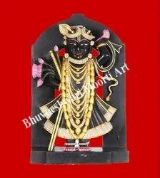 Black Marble Shrinath Ji Statue