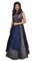 Silk Gown Semi Stitched